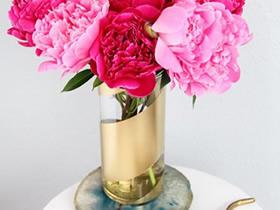 玻璃杯喷漆制作精美花瓶的方法