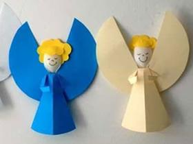 儿童简单手工制作圣诞天使的方法