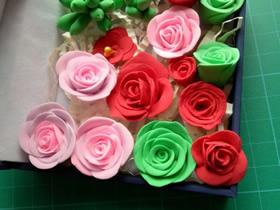 超轻粘土玫瑰花的制作方法