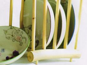自制碗碟沥水架的方法