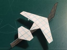用纸做无人巡逻机的方法图解