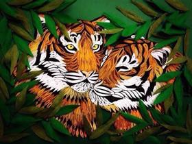 精美的衍纸虎豹制作方法