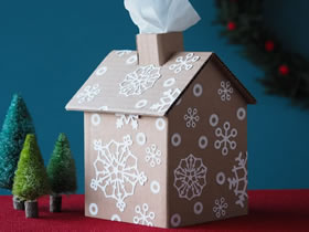 自制姜饼屋纸巾盒的方法