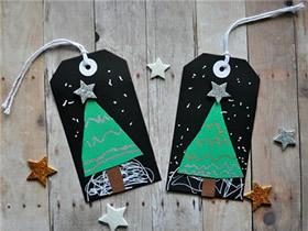 可爱圣诞树小卡片手工制作