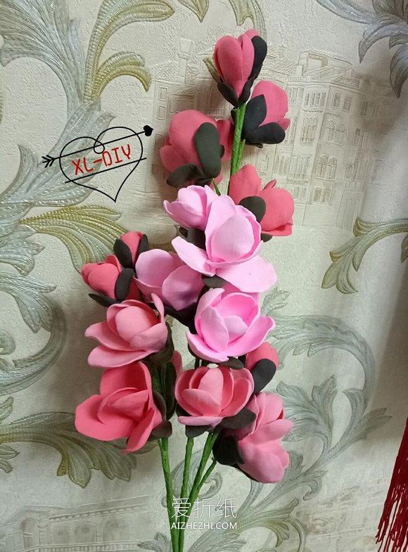 用粘土制作玉兰花装饰画的方法- www.aizhezhi.com