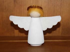 可爱天使摆件的制作方法
