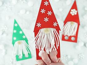 简单圣诞老人手偶的制作方法