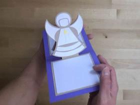 圣诞节弹出天使贺卡的制作方法