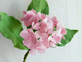 粘土绣球花的制作方法图解