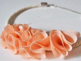 用雪纺布做项链饰品的方法
