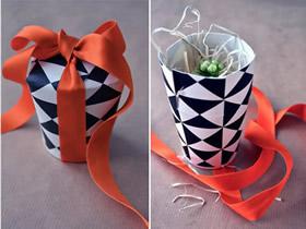 用纸杯做礼物包装盒的方法