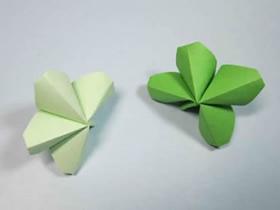 简单四叶草折纸教程