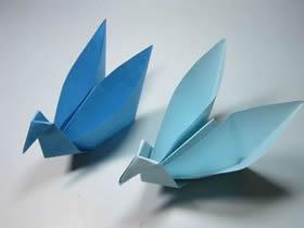 带收纳盒天鹅的折纸方法图解