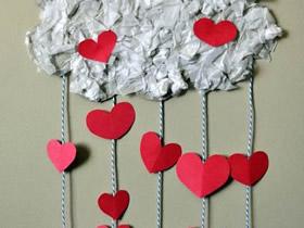 情人节爱心雨礼物装饰的制作方法