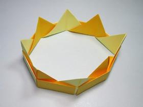 简单的皇冠折纸教程图解