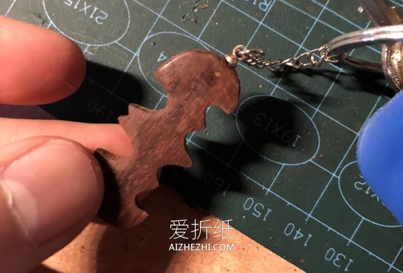自制蝙蝠镖钥匙扣的方法- www.aizhezhi.com