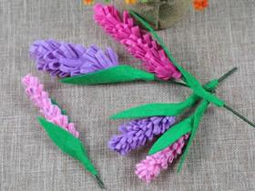 简单用不织布做风信子花的方法