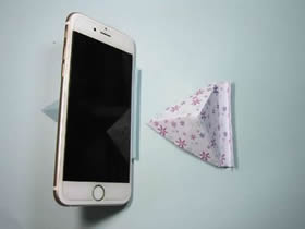 简单的手机支架折纸教程