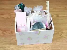 简易纸箱收纳盒DIY