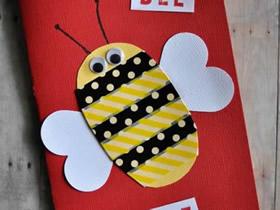 Bee Mine创意情人节贺卡的制作方法
