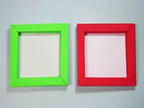 正方形相框的折纸方法图解