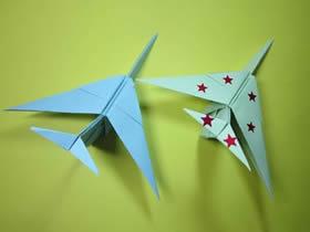 简单组合式战斗机的折纸方法