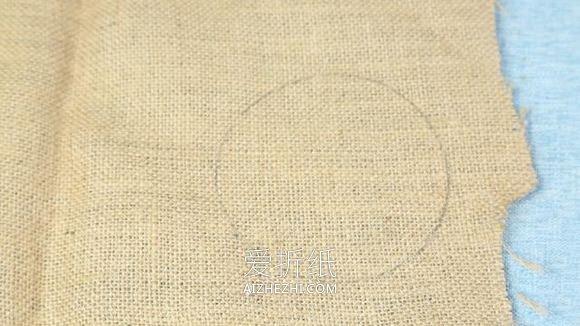用麻布做森系花盆套的方法- www.aizhezhi.com