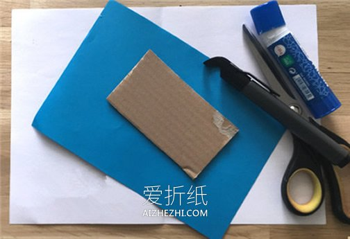 立体北极熊纸贴画的制作方法- www.aizhezhi.com
