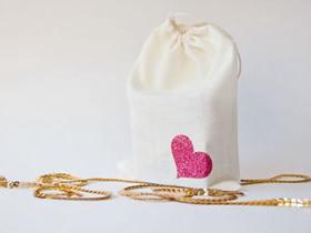 情人节爱心图案布袋的制作方法