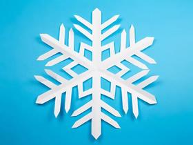 简单雪花的折叠和剪纸方法图解