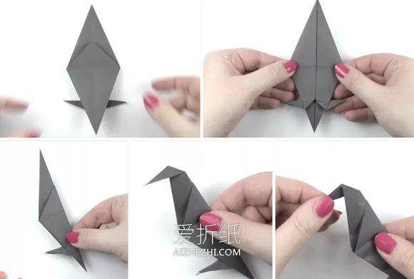 简单折纸乌鸦的图解教程- www.aizhezhi.com
