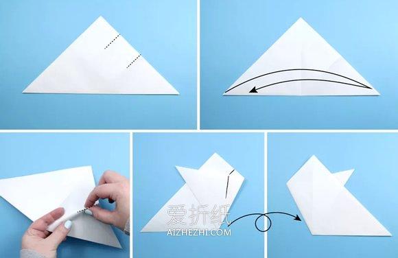 简单雪花的折叠和剪纸方法图解- www.aizhezhi.com