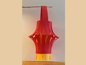新年彩纸灯笼的制作方法