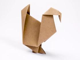 感恩节火鸡的折纸图解