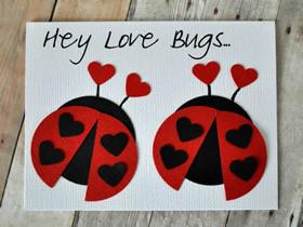 创意小爱虫情人节卡片的制作方法
