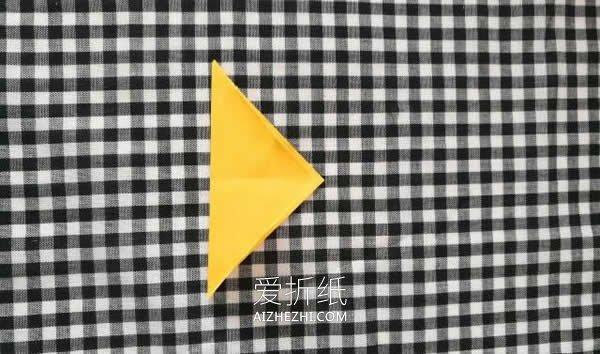 超简单小花篮折纸图解- www.aizhezhi.com