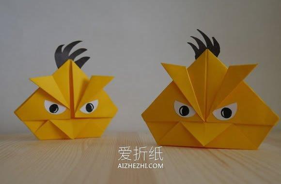 [视频]愤怒的小鸟折纸方法- www.aizhezhi.com