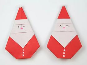 简单圣诞老人折纸图解