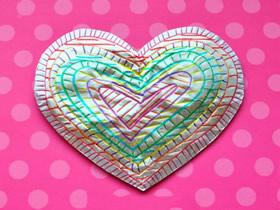 儿童手工制作情人节锡箔心的教程