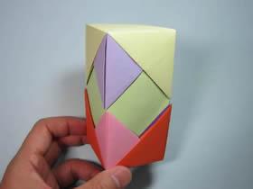 折纸笔筒和长方体包装盒的方法