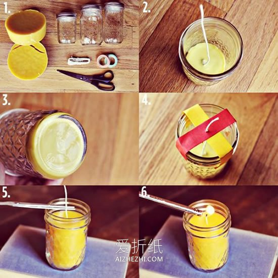 用罐头瓶做漂亮烛台的方法- www.aizhezhi.com