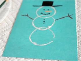 简单新年雪人贺卡的制作方法