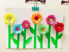 简单立体花朵贴画的制作方法