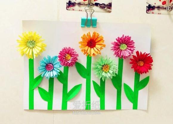 简单立体花朵贴画的制作方法- www.aizhezhi.com