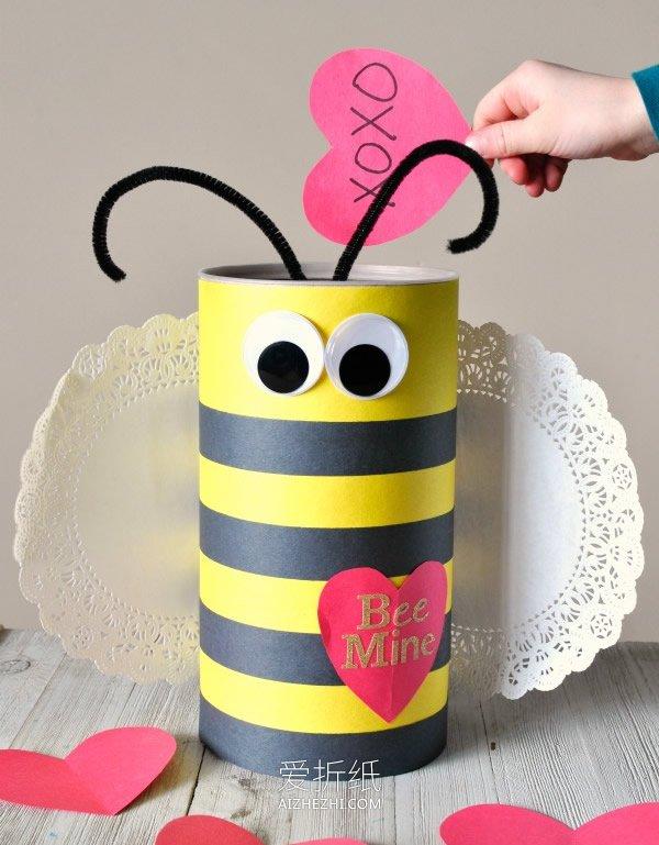 情人节蜜蜂礼盒的制作方法- www.aizhezhi.com