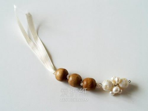 简约木珠项链的制作方法- www.aizhezhi.com