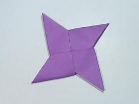 简单四角飞镖折纸教程