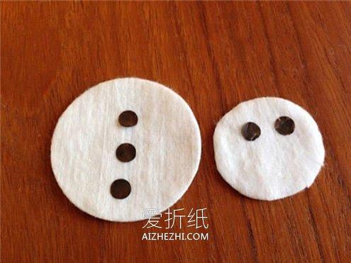 儿童手工制作新年雪人贺卡的方法- www.aizhezhi.com