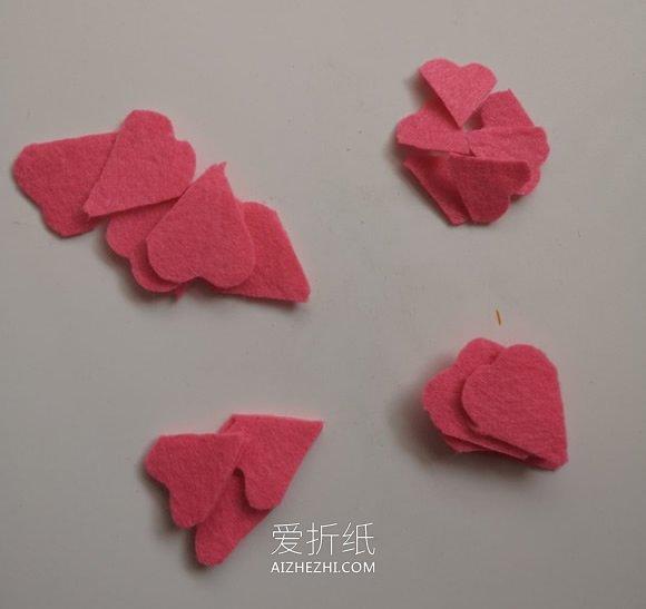 不织布玫瑰花的制作方法- www.aizhezhi.com