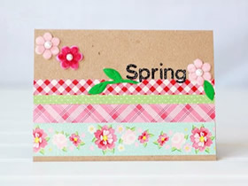 漂亮春天贺卡的制作方法